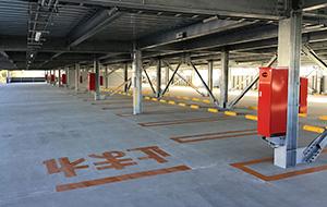 駐車場内部写真(色分け)